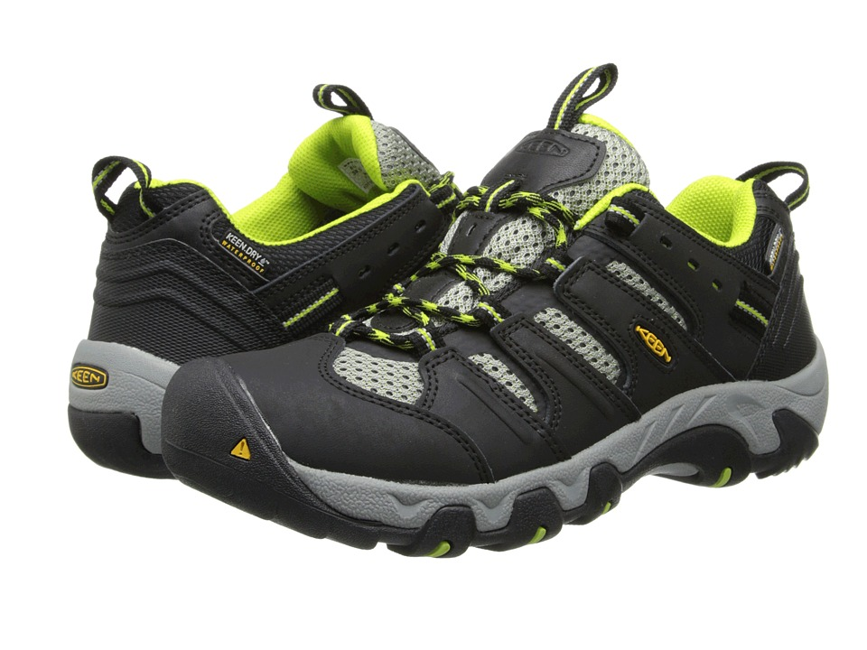 Keen - Koven Low WP (Black/Lime Green) Women's Shoes