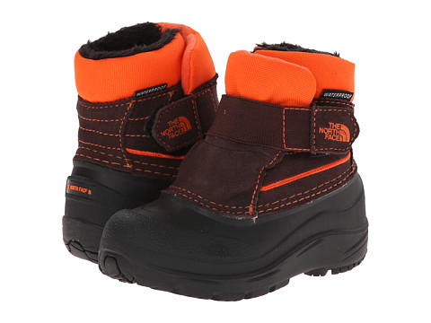 The North Face Kids - Powder-Hound (Toddler) (Brownie Brown/Red Orange) Boys Shoes