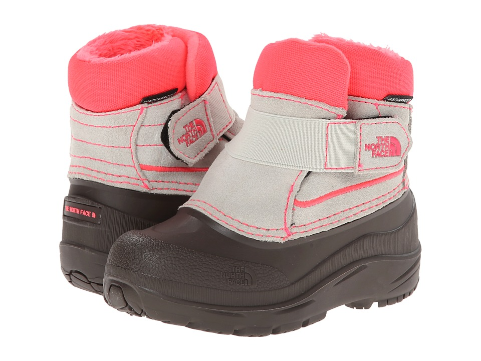 The North Face Kids - Powder-Hound (Toddler) (Shiny Moonlight Ivory/Rocket Red) Girls Shoes