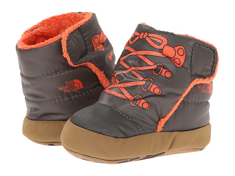 The North Face Kids - NSE Bootie (Infant/Toddler) (Shiny Forest Night Green/Red Orange) Boys Shoes