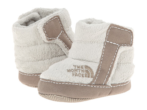 The North Face Kids - NSE Fleece Bootie (Infant/Toddler) (Shiny Moonlight Ivory/Classic Khaki) Girls Shoes