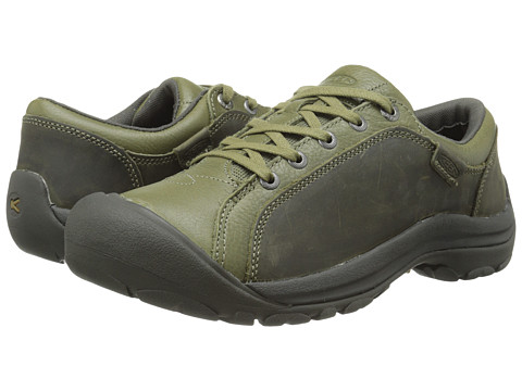 Keen - Briggs Leather (Burnt Olive) Women's Lace up casual Shoes