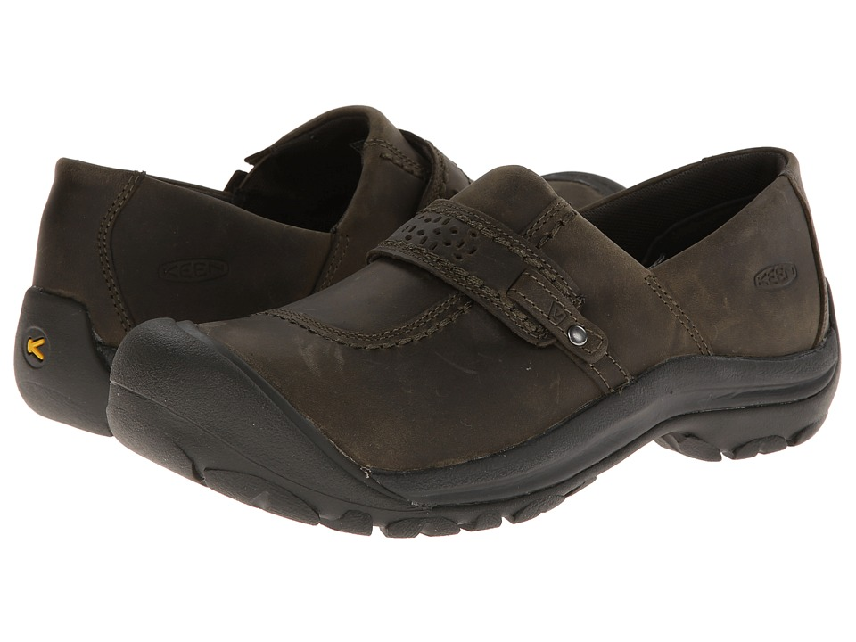 Keen Kaci Full Grain Slip-On (Burnt Olive) Women