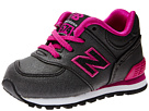 New Balance Kids 574 (Infant/Toddler) (Black/Pink)