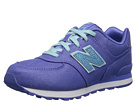 New Balance Kids KL574 (Little Kid) (Purple/Aquamarine)