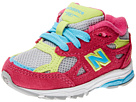 New Balance Kids 990v3 (Infant/Toddler) (Silver/Pink)
