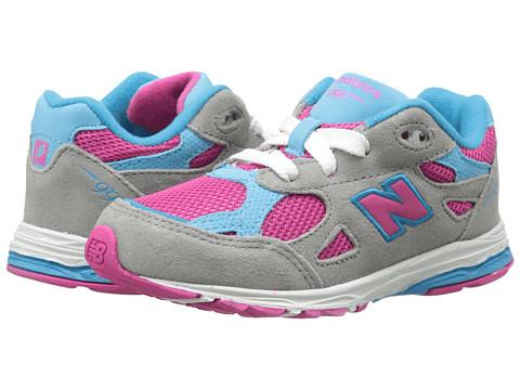 New Balance Kids - 990v3 (Infant/Toddler) (Silver/Blue) Girls Shoes