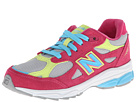 New Balance Kids 990v3 (Little Kid) (Silver/Pink)