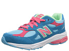 New Balance Kids 990v3 (Little Kid) (Blue/Pink)