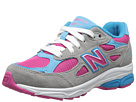 New Balance Kids 990v3 (Little Kid) (Silver/Blue)