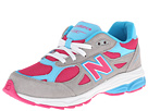 New Balance Kids 990v3 (Big Kid) (Silver/Blue)