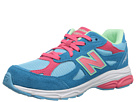 New Balance Kids 990v3 (Big Kid) (Blue/Pink)