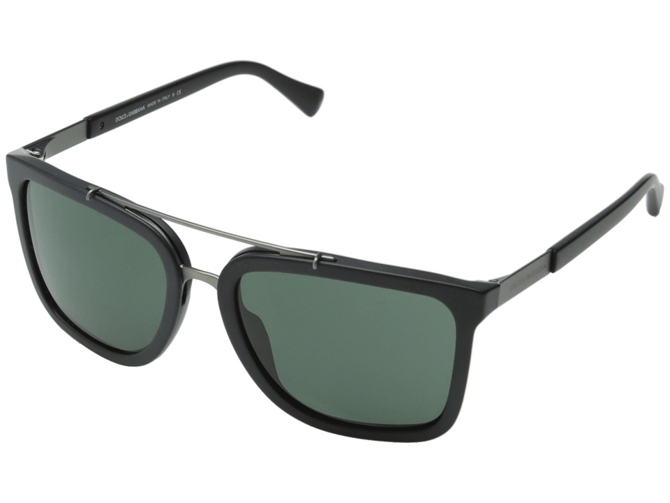 Dolce & Gabbana - DG4219 (Matte Black/Grey Green) Fashion Sunglasses