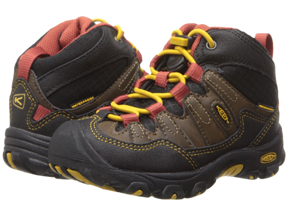 Keen Kids - Pagosa Mid WP (Toddler/Little Kid) (Cascade Brown/Tawny Olive) Boys Shoes