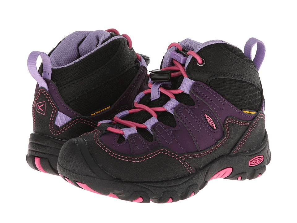 Keen Kids - Pagosa Mid WP (Toddler/Little Kid) (Blackberry/Bougainvillea) Girls Shoes