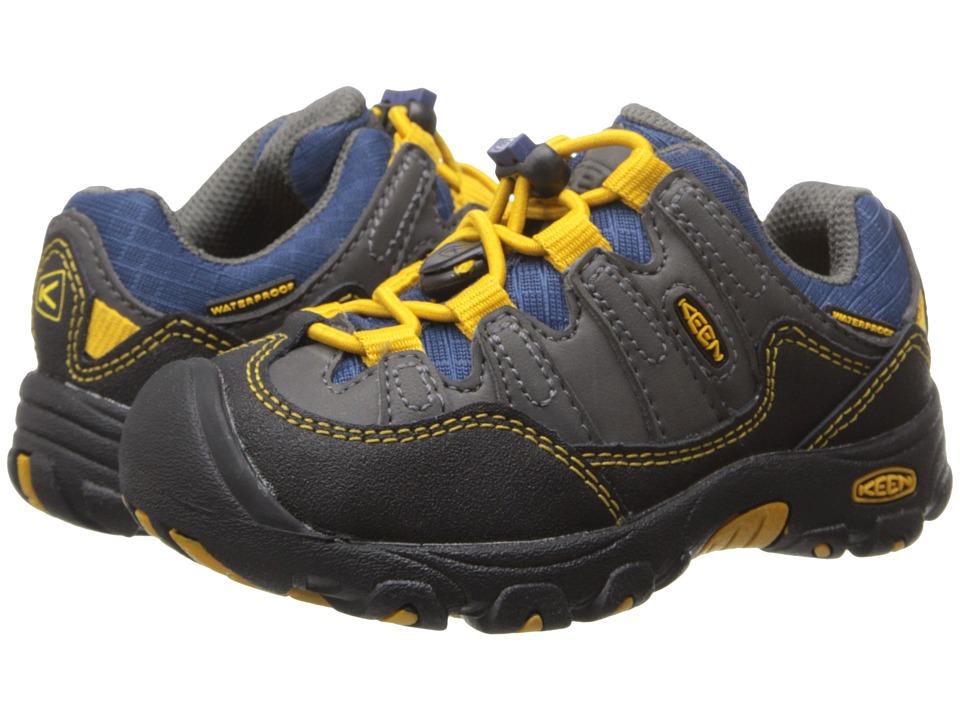 Keen Kids - Pagosa Low WP (Toddler/Little Kid) (Magnet/Golden Yellow) Boy's Shoes