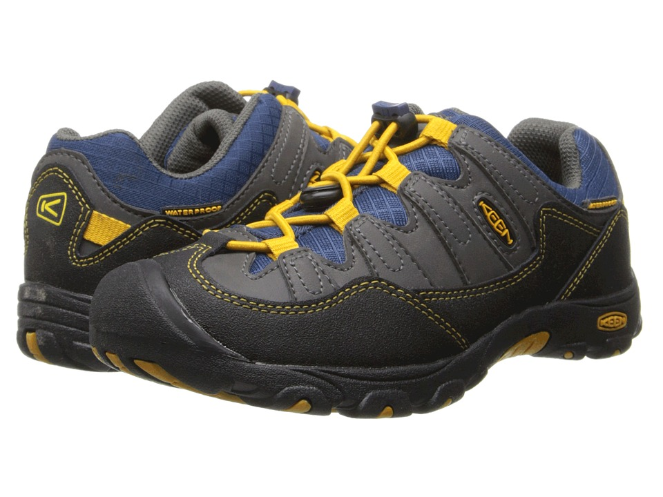Keen Kids - Pagosa Low WP (Little Kid/Big Kid) (Magnet/Golden Yellow) Boys Shoes