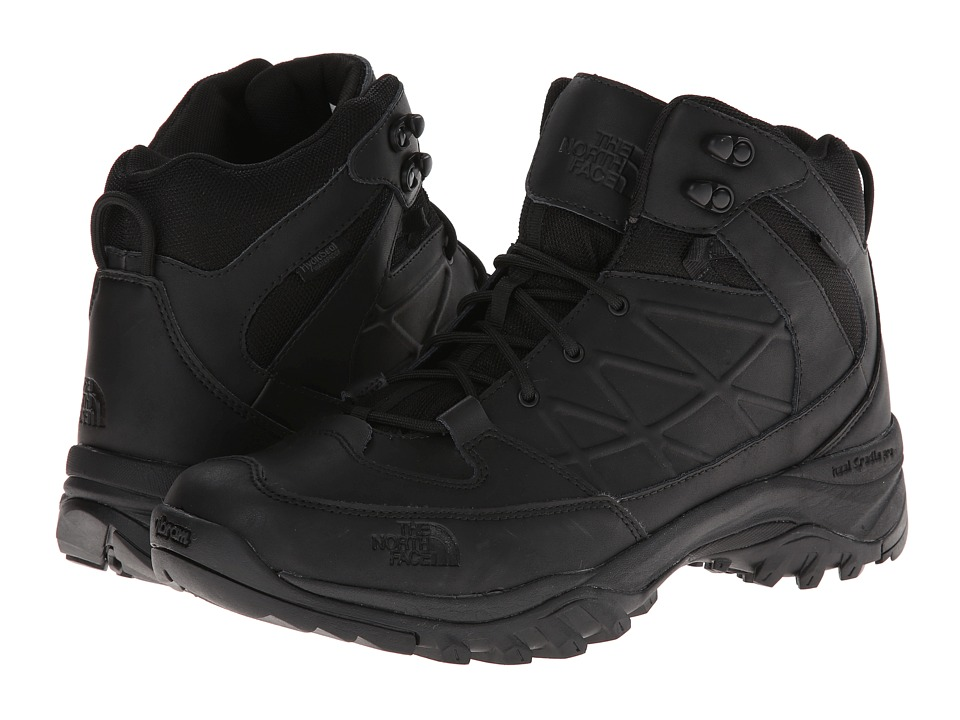 The North Face - Storm Mid WP Leather (TNF Black/TNF Black) Men's Hiking Boots