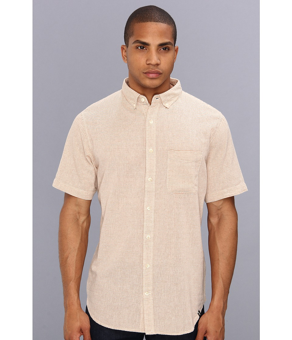 Lifetime Collective - Lucky Man Stripe S/S Stripe Button Up Shirt (Adobe Stripe) Men's Short Sleeve Button Up
