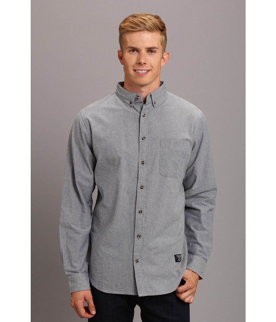 Lifetime Collective - Lucky Man Solid L/S Button Up Shirt (Light Blue) Men's Long Sleeve Button Up