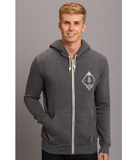 Lifetime Collective - Into The Wild Fleece Zip Hoodie (Heather Charcoal) Men