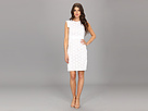 Adrianna Papell Eyelet Cotton Lace Sheath (White)