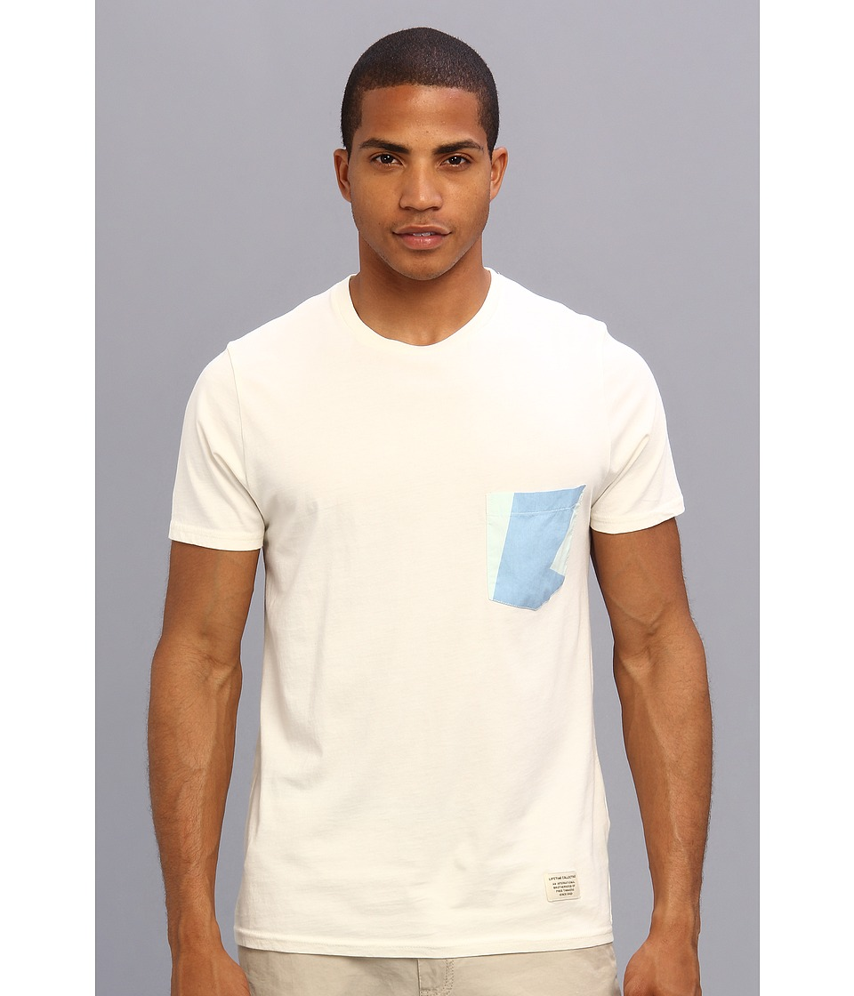 Lifetime Collective - Pockets S/S Pocket Tee (Vintage White) Men's T Shirt