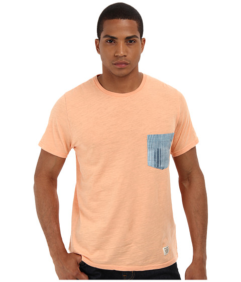Lifetime Collective - Pockets S/S Pocket Tee (Orange Sherbert) Men's T Shirt