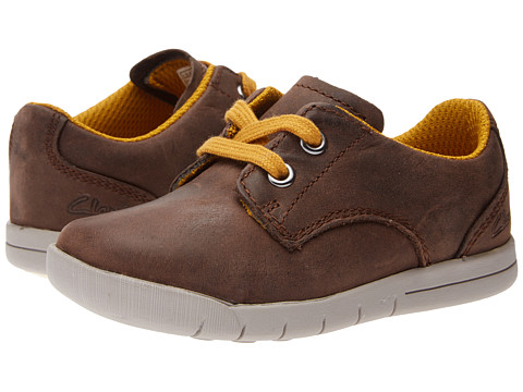 Clarks Kids - Crazy Rock (Toddler) (Brown Leather) Boys Shoes