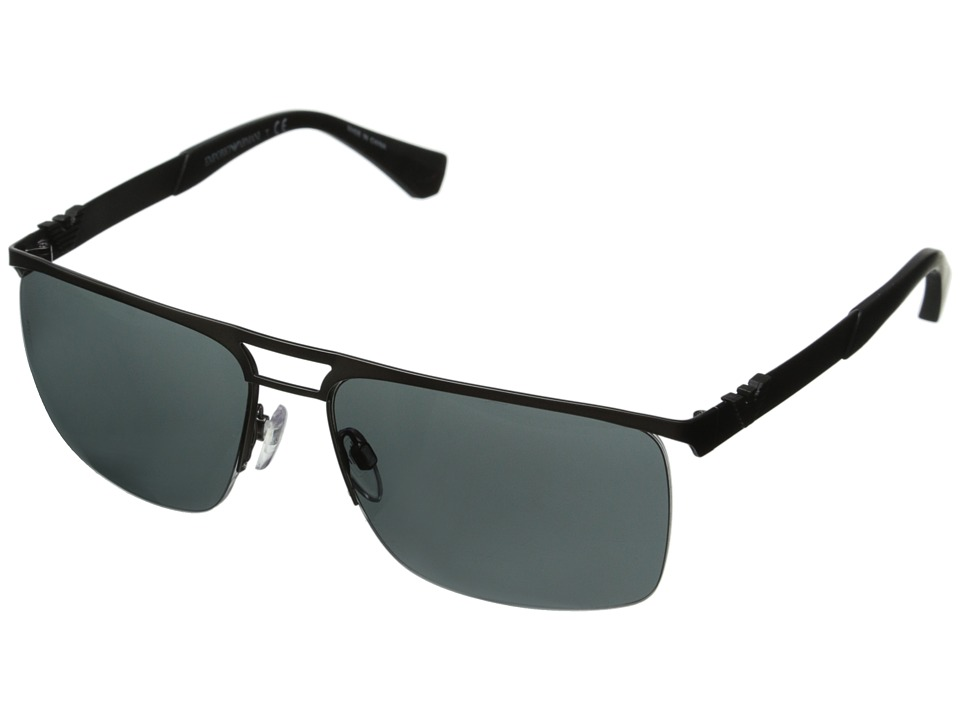 Emporio Armani - 0EA2014 (Matte Gunmetal/Grey) Fashion Sunglasses