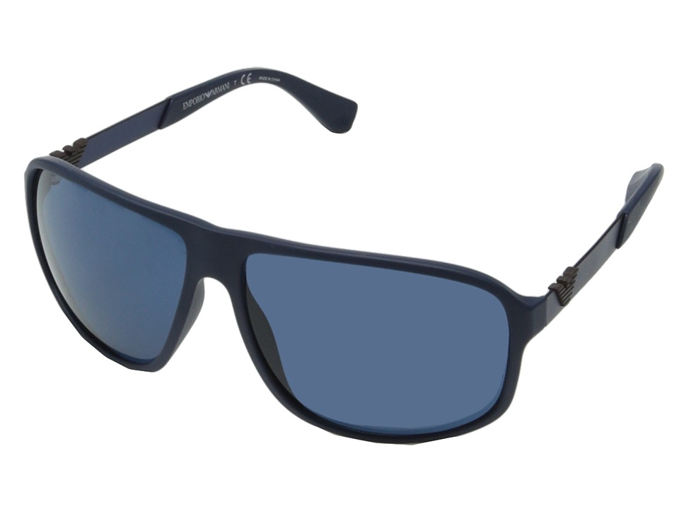 Emporio Armani - 0EA4029 (Blue Rubber/Blue) Fashion Sunglasses