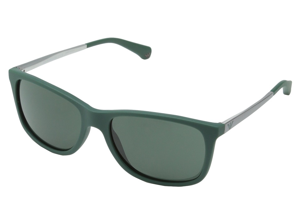 Emporio Armani - 0EA4023 (Matte Emerald Green/Grey Green) Fashion Sunglasses