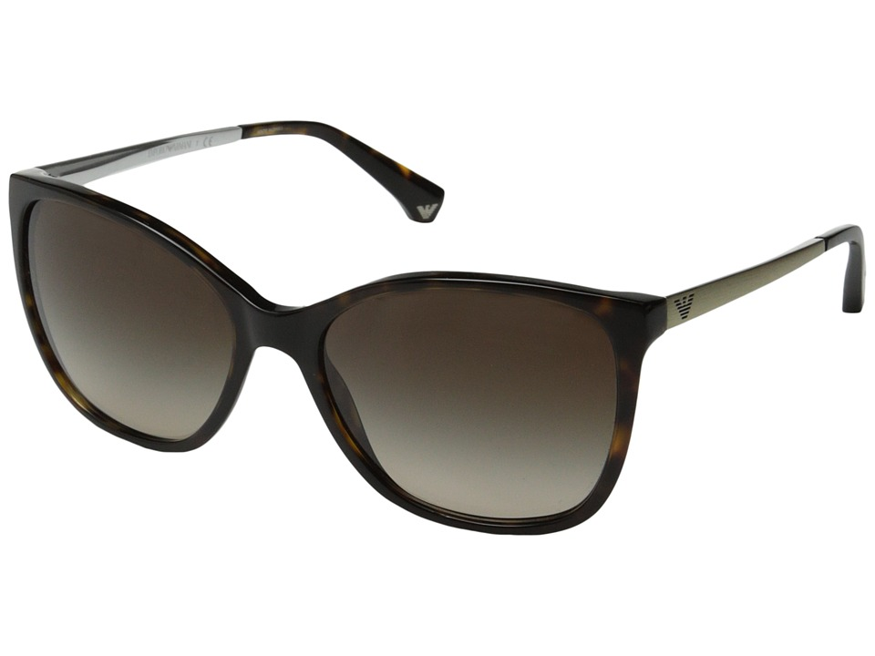 Emporio Armani - 0EA4025 (Dark Havana/Brown Gradient) Fashion Sunglasses