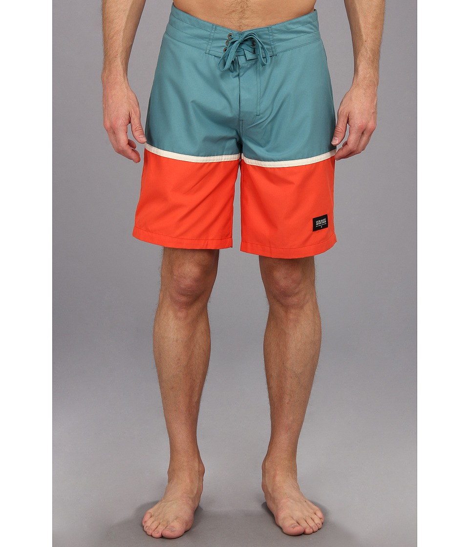 Lifetime Collective - Charlie Don't Surf Stripe Boardshort 19 (Stormy Blue Combo) Men's Swimwear