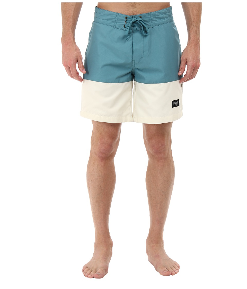 Lifetime Collective - Topanga Colorblock Boardshort 17 (Stormy Blue) Men's Swimwear