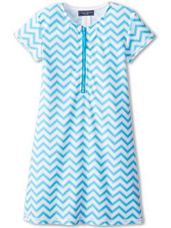 SALE! $14.99 - Save $30 on Toobydoo Dress Rash Guard Chevron (Infant Toddler Little Kids Big Kids) (Aqua) Apparel - 66.69% OFF $45.00