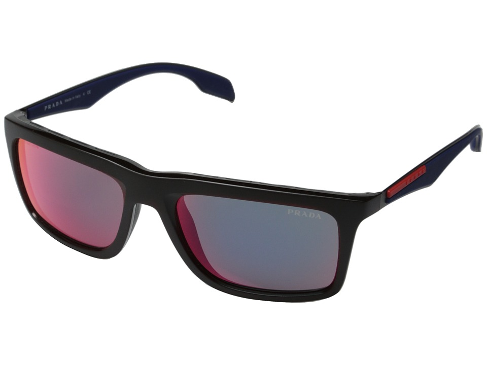 Prada Linea Rossa - 0PS 02PS (Red/Dark Grey Mirror) Fashion Sunglasses