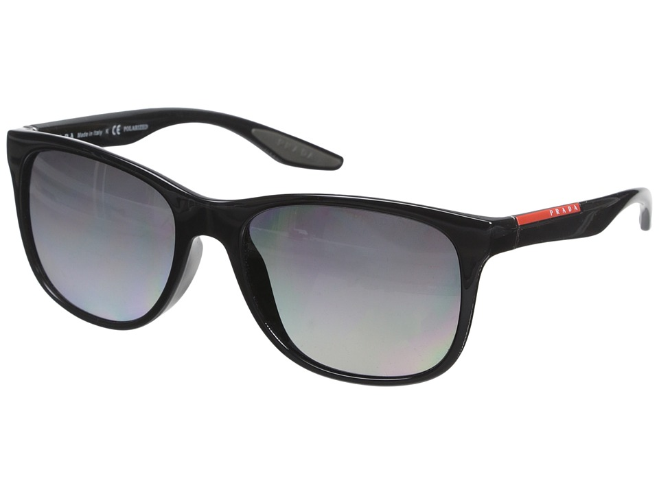 Prada Linea Rossa - 0PS 03OS (Black/Grey Polarized) Fashion Sunglasses