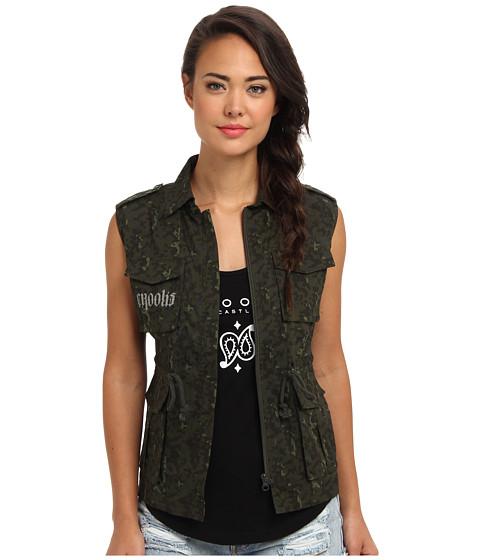 Crooks & Castles - Undertaker Woven Vest (Olive Digi Camo) Women's Vest