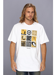 SALE! $9.99 - Save $18 on L R G Lifted Squares Tee (White) Apparel - 64.32% OFF $28.00