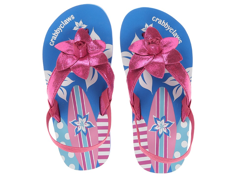 Crabbyclaws - Surfboard (Toddler/Little Kid/Big Kid) (Magenta Glitter) Girl's Shoes