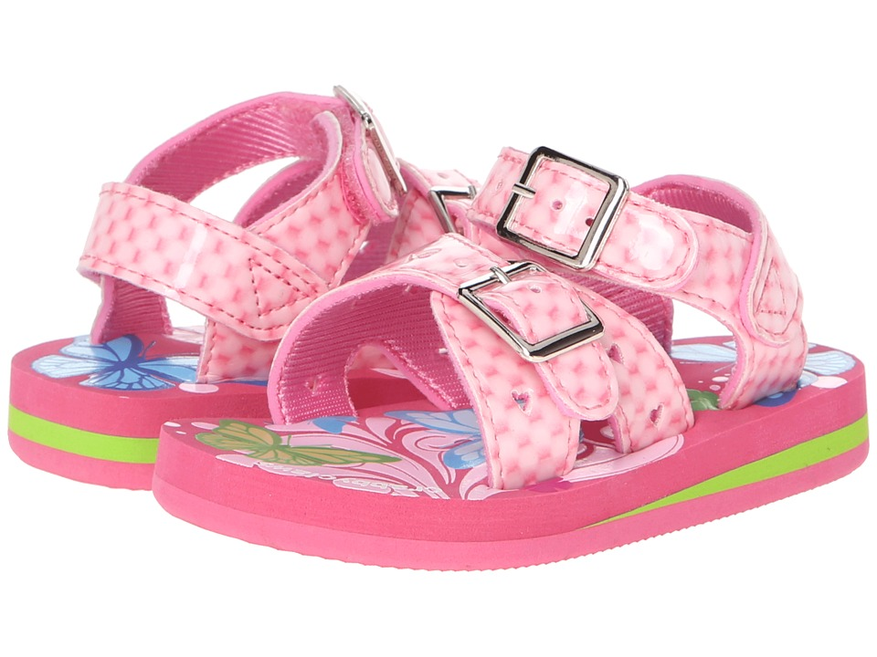 Crabbyclaws - Butterfly (Toddler/Little Kid/Big Kid) (Pink Patent) Girl's Shoes