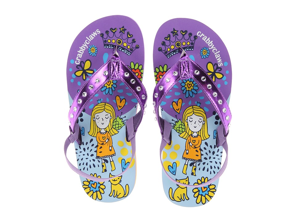 Crabbyclaws - Princess (Toddler/Little Kid/Big Kid) (Purple Metal) Girl's Shoes
