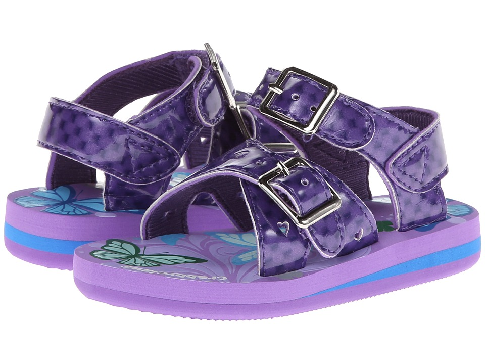 Crabbyclaws - Butterfly (Toddler/Little Kid/Big Kid) (Purple Patent) Girl's Shoes