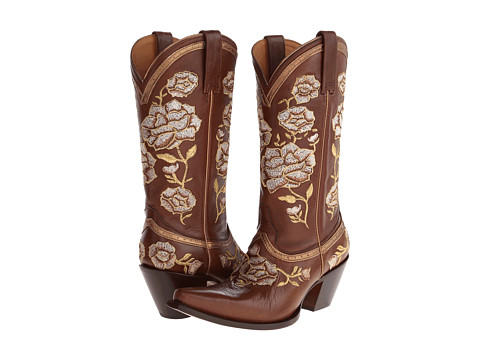"Lucchese - M4857 (Floral ""Torero"" Whiskey) Cowboy Boots"