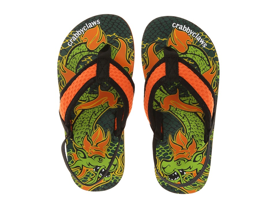Crabbyclaws - Dragon (Toddler/Little Kid/Big Kid) (Orange/Black) Boy's Shoes