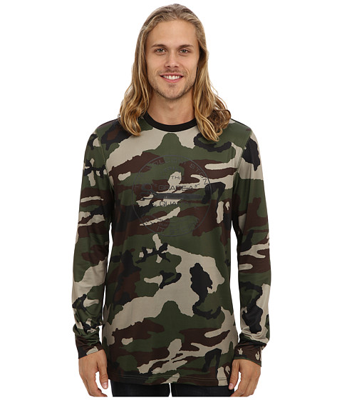 Volcom Snow - First Layer Crew (Camouflage) Men's Long Sleeve Pullover