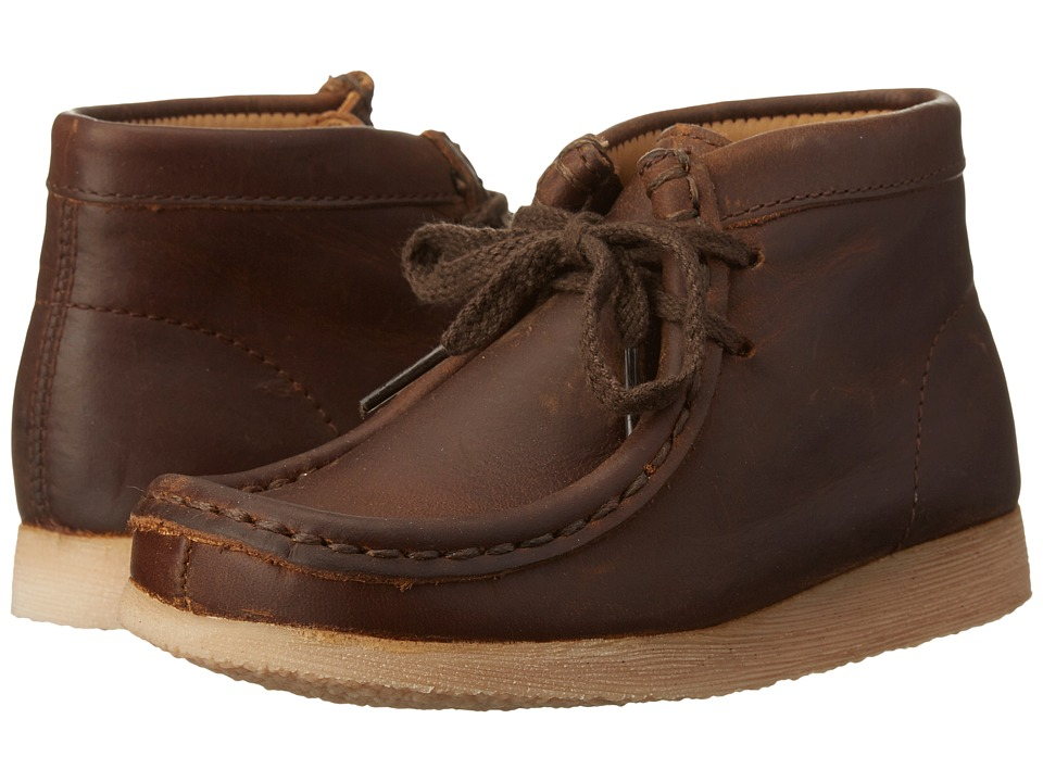 Clarks Kids - Wallabee (Toddler) (Brown Oily) Boy's Shoes
