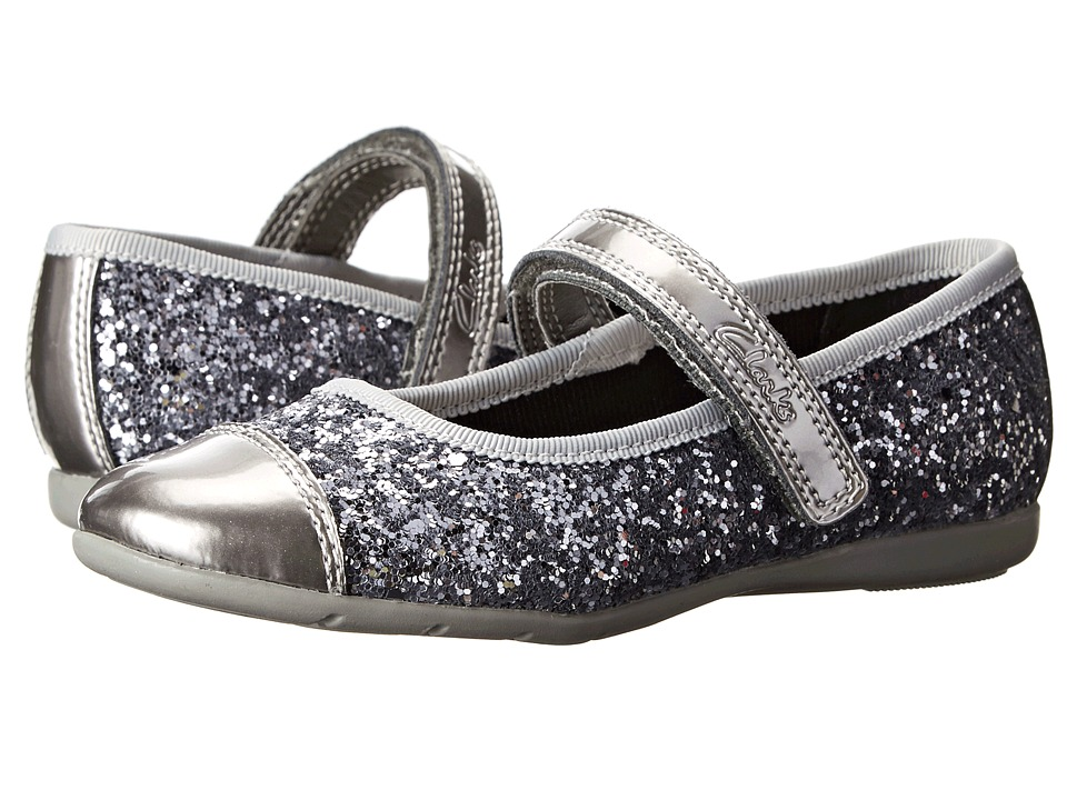 Clarks Kids - Dance Glam (Toddler) (Silver Synthetic) Girl