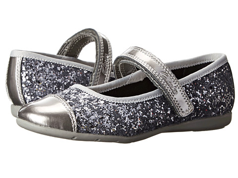 Clarks Kids - Dance Glam (Toddler) (Silver Synthetic) Girl's Shoes